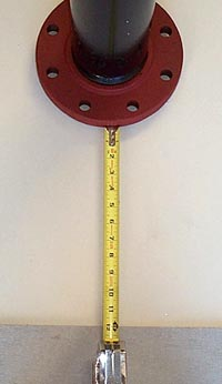 Measure Distance from flange to floor.